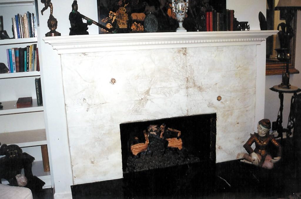 Plaster Relief over Georgian Brick
