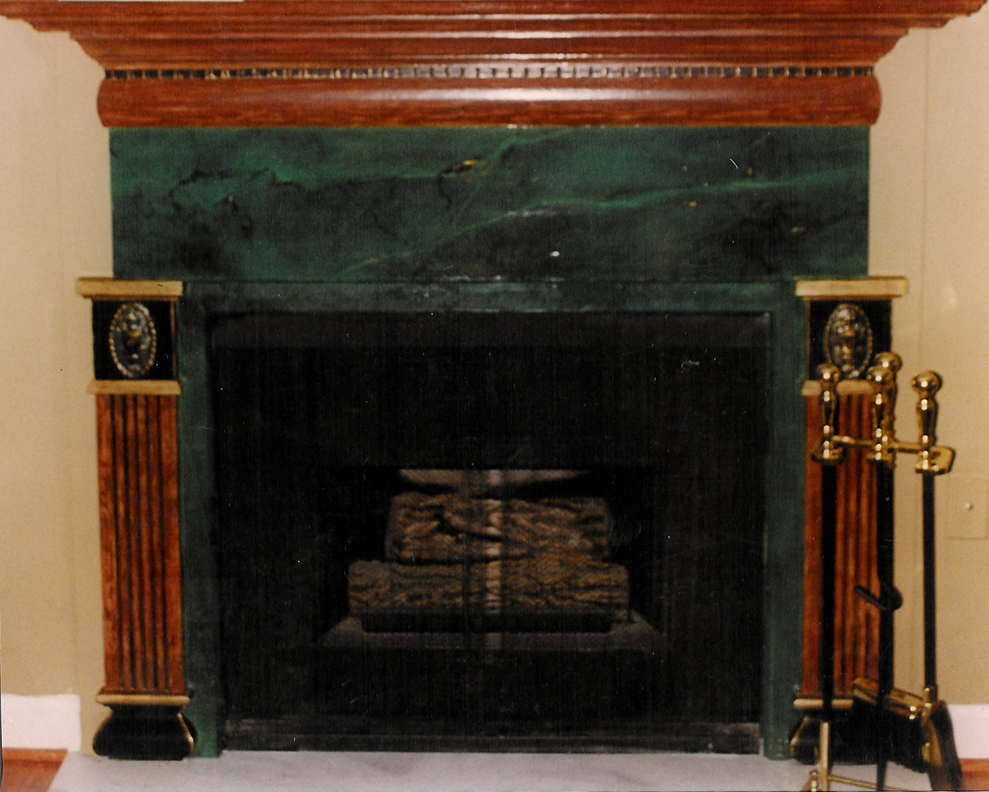 surround stone faux mantels fireplace perfect